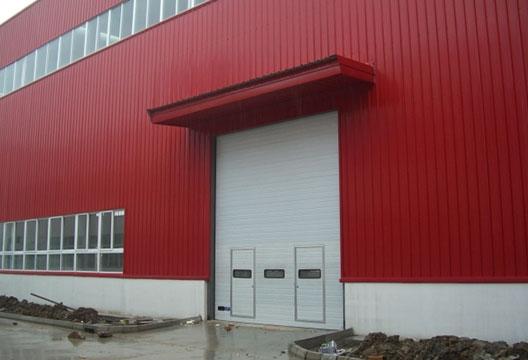 工业提升门防风